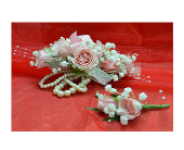 Pinks and Pearls Prom Flowers in Easton, Maryland, Robin's Nest