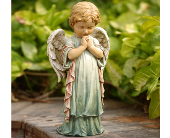 Spring Praying Angel Statue in Dallas TX, In Bloom Flowers, Gifts and More