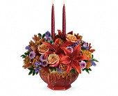 Teleflora's Autumn Ablaze Centerpiece in Vernon Hills IL, Liz Lee Flowers