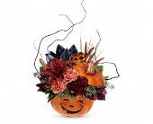Teleflora's Halloween Magic Bouquet in San Francisco CA, Rose & Leona's Flower Shop