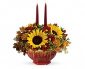 Teleflora's Thanksgiving Garden Centerpiece in Homer NY, Arnold's Florist & Greenhouses & Gifts