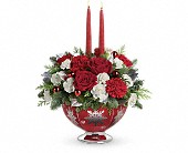 Seattle Flowers - Teleflora's Silver And Joy Centerpiece - Hansen's Florist