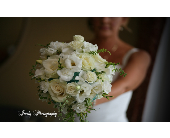 All white garden mix bridal bq.  in Sarasota, Florida, Flowers By Fudgie On Siesta Key