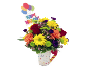 Blooming Birthday Mug in Stuart FL, Harbour Bay Florist