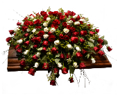 Rose Casket Spray in Ft. Collins CO, Palmer Flowers