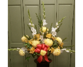 GRECIAN URN FLOOR TRIBUTE in Woodbridge NJ, Floral Expressions