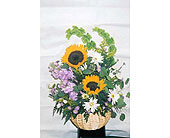 Sunflower Basket in The Woodlands TX, Botanical Flowers and Gifts