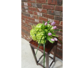 Homewood Flowers - Green hydrangea and tulips - Continental Florist