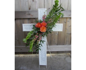 Metal Memorial Cross in Lawrence, Kansas, Owens Flower Shop Inc.