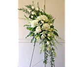 White Elegance Spray  in Smyrna GA, Floral Creations Florist