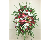 Red & White Spray  in Smyrna GA, Floral Creations Florist