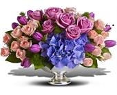Purple Elegance Centerpiece in Smyrna GA, Floral Creations Florist
