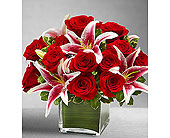Rose and Lily Cube Bouquet (L)