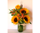 Mason Jar of Sun in Nashville TN, Flowers By Louis Hody