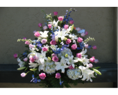 White and Pink Arrangement in Ocala, Florida, Heritage Flowers, Inc.
