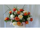 Garden Basket of Roses in West Palm Beach, Florida, Heaven & Earth Floral, Inc.