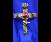 Large Rose Cross in Bridge City, Texas, Wayside Florist