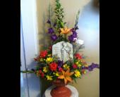 Plaque Pedestal Arrangement in New Iberia, Louisiana, Breaux's Flowers & Video Productions, Inc.