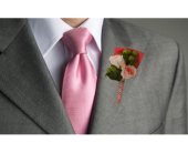 Peaches & Cream Boutonniere in Dallas TX, In Bloom Flowers, Gifts and More