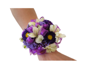 Purple Power Corsage in Dallas TX, In Bloom Flowers, Gifts and More