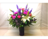 Filer's Lavender Love Vase Bouquet in Cleveland OH, Filer's Florist Greater Cleveland Flower Co.