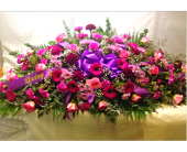Filer's Lavender Love Tribute Casket Spray in Cleveland OH, Filer's Florist Greater Cleveland Flower Co.