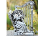 Angel with Harp Wind Chime in Adrian MI, Flowers & Such, Inc.