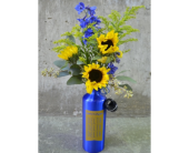 Tri-Delta Blooming Water Bottle  in Boulder CO, Art Of The Flower