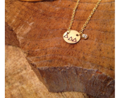 Tri-Delta Circle Necklace in Boulder CO, Art Of The Flower