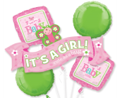Welcome Little Girl Mylar Balloon Bouquet in Pendleton IN, The Flower Cart