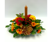 Small Centrepiece with candle in Belleville ON, Live, Love and Laugh Flowers, Antiques and Gifts