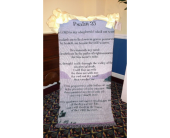 23rd Psalm Throw on Stand in Statesville NC, Brookdale Florist, LLC