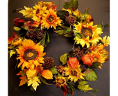 Fall's Harvest Wreath in Amherst NY, The Trillium's Courtyard Florist