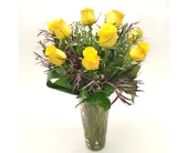 Executive One Dozen Yellow Ros in Fort Collins CO, Fort Collins Floral
