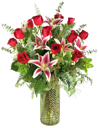 Gazers and Corazon Roses in Newport News VA, Pollard's Florist