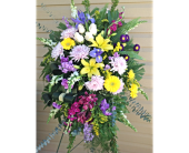 Bright Memories Standing Spray  in Smyrna GA, Floral Creations Florist