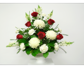 MIXED TRIBUTE WITH ROSES in London ON, Posno Flowers