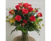 Warm Fall Roses in Redmond WA, Bear Creek Florist
