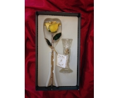 Living Gold Rose in Yellow in Greensboro NC, Send Your Love Florist & Gifts