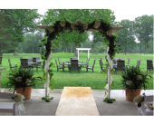 Decorated Arch with Greens & Hydrangea in Blue Bell, Pennsylvania, Country Flower Shoppe