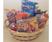 Junk Food Basket in Flint MI, Curtis Flower Shop