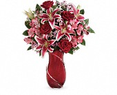 Teleflora's Wrapped With Passion Bouquet in Kalispell MT, Woodland Floral & Gifts
