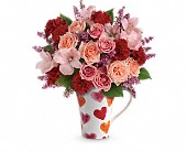 Teleflora's Lovely Hearts Bouquet in Kalamazoo MI, Ambati Flowers