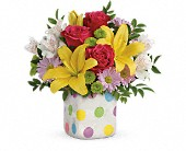 Redlands Flowers - Teleflora's Delightful Dots Bouquet - Hilton's Flowers
