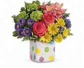Teleflora's Happy Dots Bouquet in Rush NY, Chase's Greenhouse