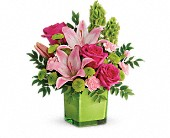 Teleflora's In Love With Lime Bouquet in Edmonton AB, Petals On The Trail