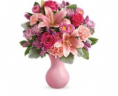 Teleflora's Lush Blush Bouquet in Edmonton AB, Petals For Less Ltd.