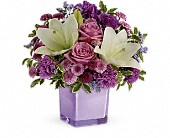 Teleflora's Pleasing Purple Bouquet in St. Clair Shores MI, DeRos Delicacies