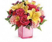 Teleflora's Pop Of Fun Bouquet in Edmonton AB, Petals For Less Ltd.