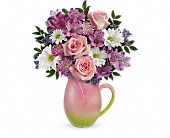 Teleflora's Spring Tulip Pitcher Bouquet in Glendale AZ, Blooming Bouquets